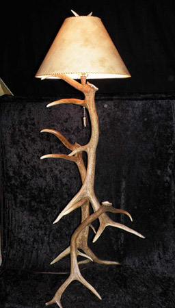 Antler Creek Wildlife Creations | Elk Antler Floor Lamp