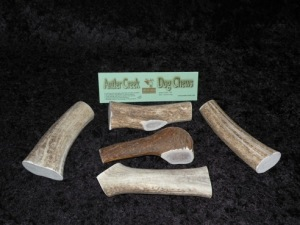 image of large antler dog chews