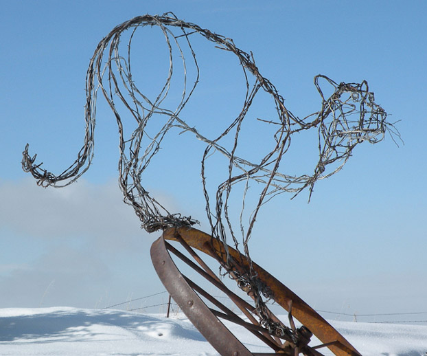 Wire Mountain Lion Sculpture – Antler Creek Wildlife Creations