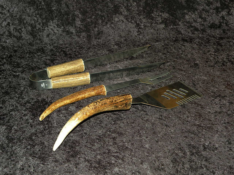 Antler barbecue tools