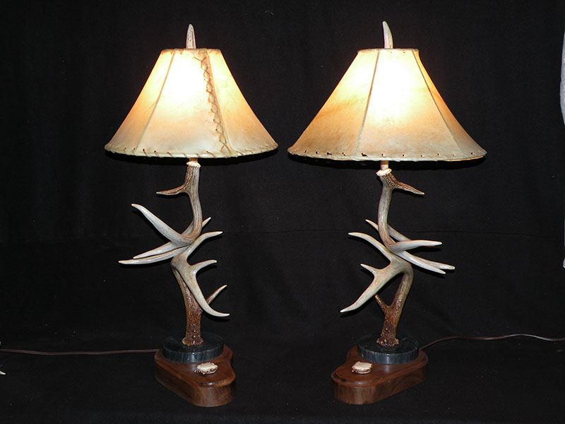 Deer Antler Table Lamp Antler Creek Wildlife Creations