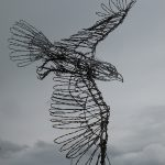 wire art bald eagle