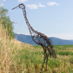 Sandhill Crane Wire Sculpture
