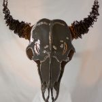 ANtler-Creek-Metal-Art-Bison-Head-Lit-from-inside