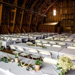 Rustic Wedding Rental antler centerpieces