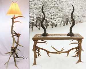 Custom Made Antler Tables