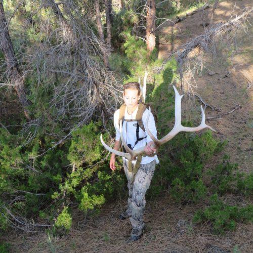 Sara antler hunting