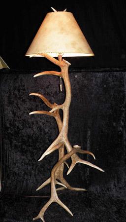 elk antler floor lamp image