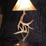 deer antler table lamp image