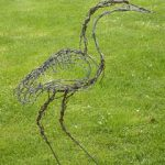 Great blue heron wire sculpture image