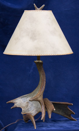 moose antler lamp image