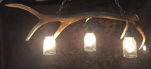 antler mason jar light